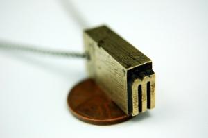 Brass Letterpress Necklace